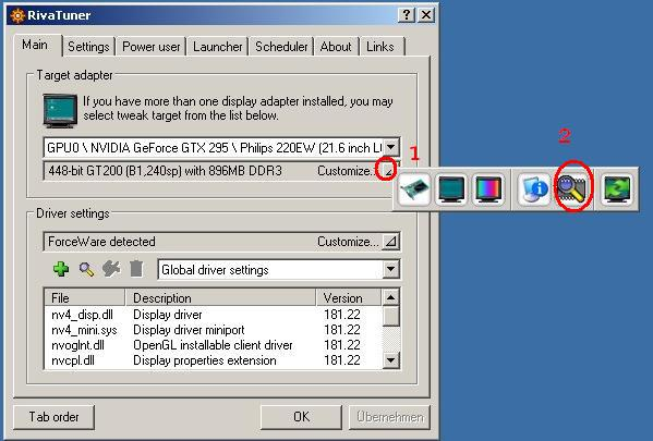 RivaTuner plugin supporting GT2xx and HD4870 Voltage Tuning